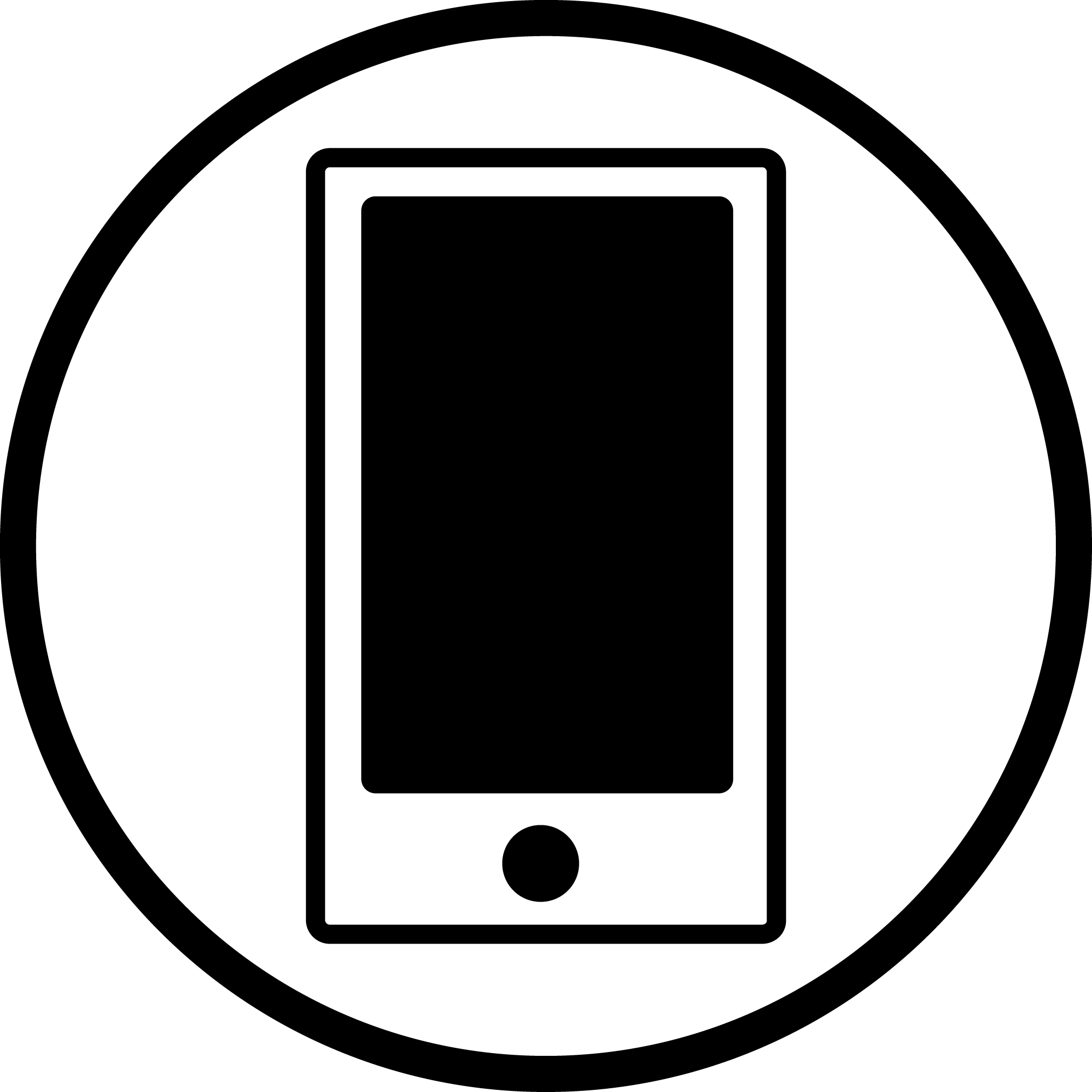 Icon of a phone or tablet device